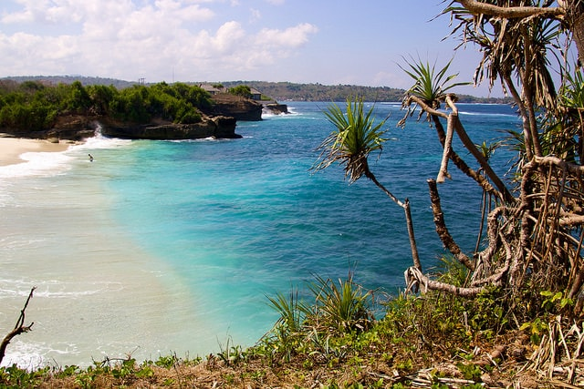 Dream Beach overlook in Nusa Lembongan near Bali, Indonesia