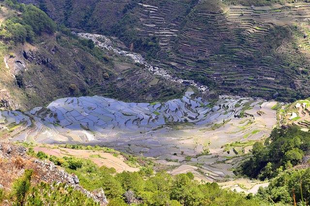 Kiltepan view rice terraces in Sagada, Mountain Province, Philippines