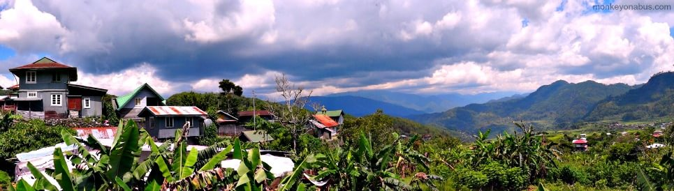 provincial houses in the mountains of Sagada, Philippines