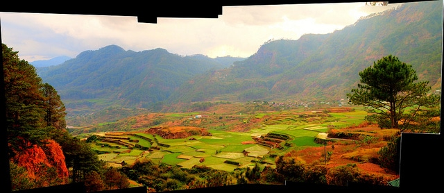 colorful rice terraces of Sagada, Philippines