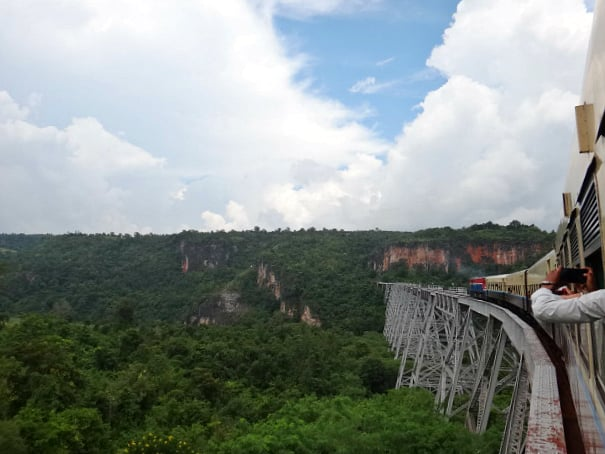 Amazing view of Gokteik Viaduct in Myanmar