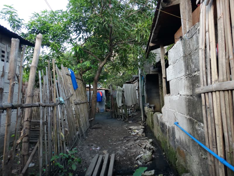 provincial neighborhood in Visayas, Philippines