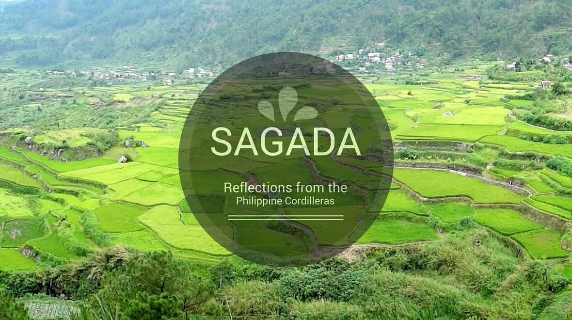 beautiful green rice terraces in Sagada, Mountain Province, Philippines