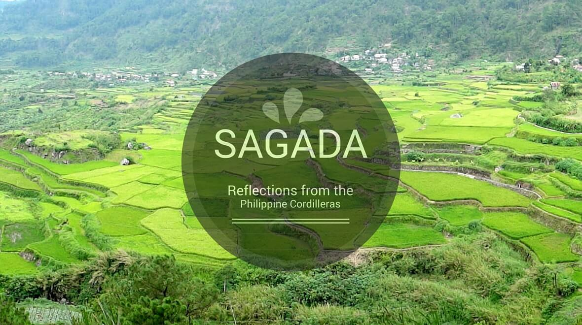 beautiful green rice terraces in Sagada, Mountain Province, Philippines
