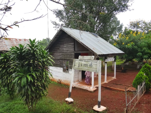 Small train station in Shan State, Myanmar