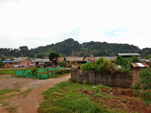Small Shan village near Pyin Oo Lwin in Myanmar