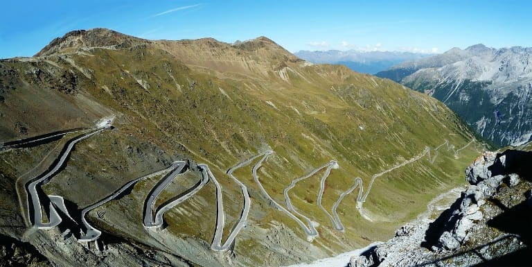 death-defying Stelvio Pass in Italy