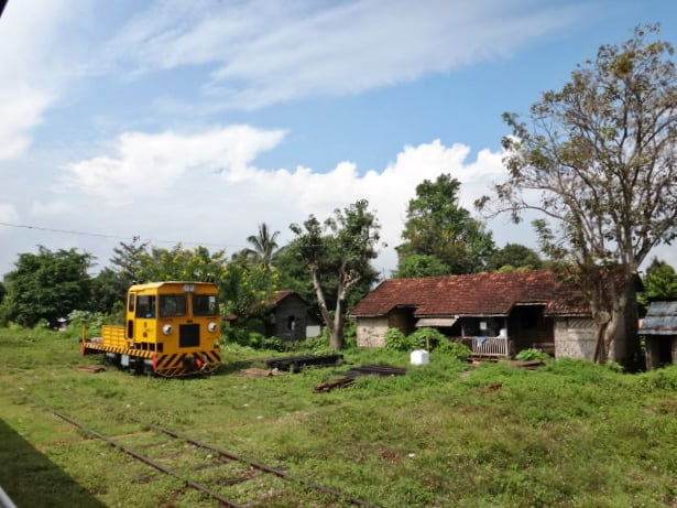 Railroad equipment on the Mandalay to Hsipaw railway in Myanmar