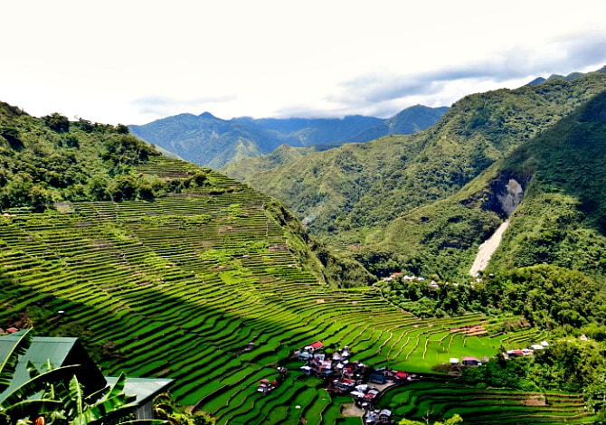 amazing UNESCO Heritage rice terraces of Batad, Philippines