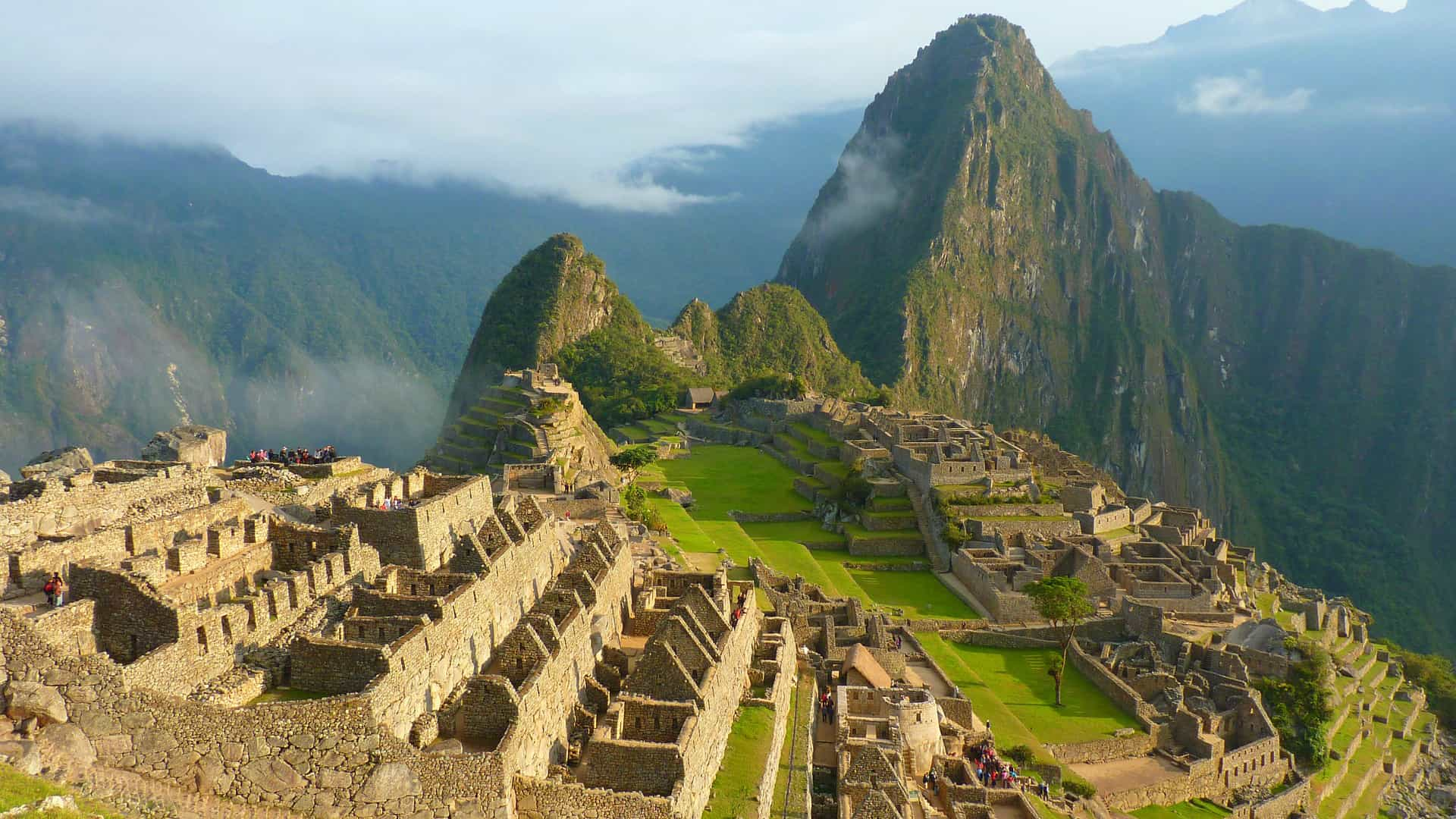 Overlooking Machu Picchu in the mountains of Peru