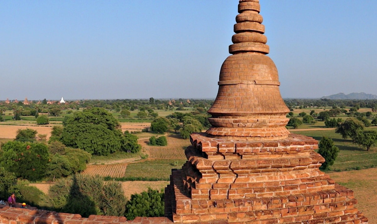 Bagan landscape, temples as far as the eye can see