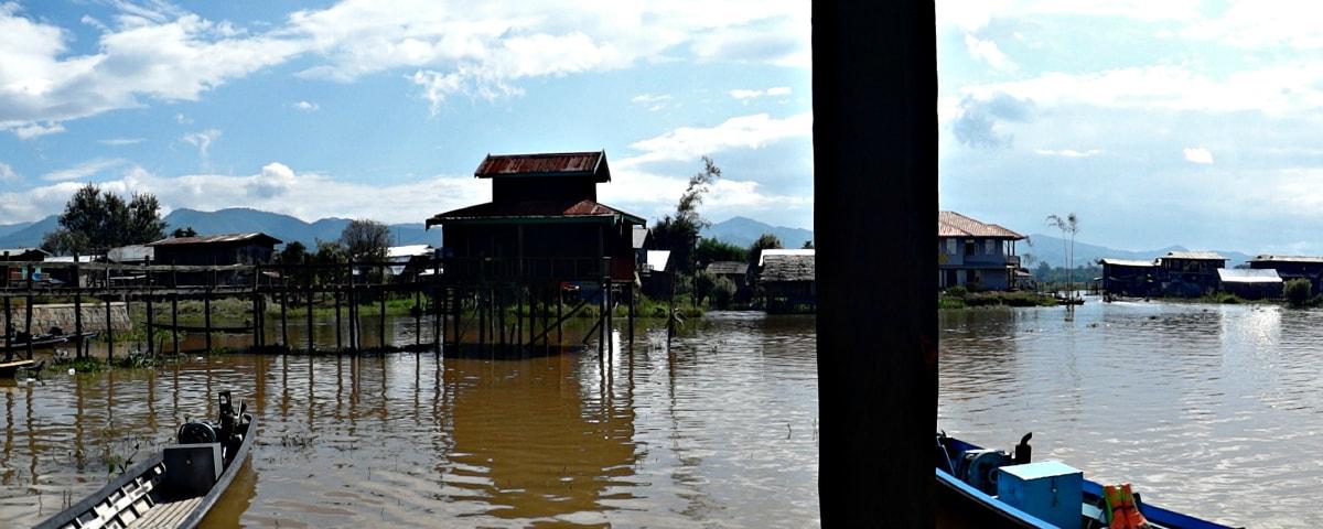 Floating village above Inle Lake, Shan State, Myanmar